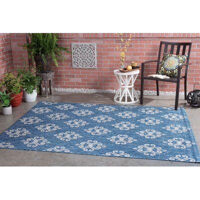 Segera Transitional Indigo Indoor/Outdoor Area Rug Rug Size: 710 x 103