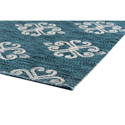 Segera Transitional Teal Indoor/Outdoor Area Rug Rug Size: 67 x 96