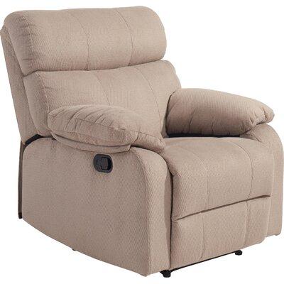 Erma Manual Recliner Color: Taupe