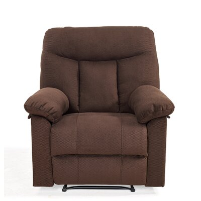Robert Modern Recliner Upholstery: Brown
