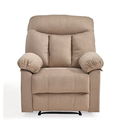 Robert Manual Recliner Upholstery: Taupe