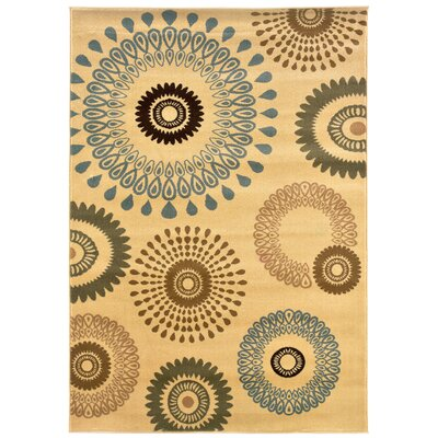 Strickland Kaleidoscopic Cream Area Rug Rug Size: 110 x 31