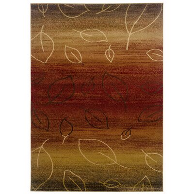 Strickland Cherry/Light Brown Area Rug Rug Size: 110 x 33