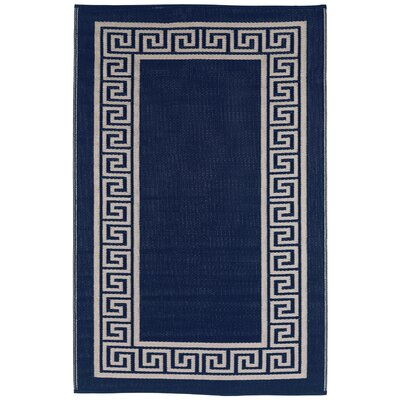Martina Midnight Blue/Cream Indoor/Outdoor Area Rug Rug Size: 3 x 5