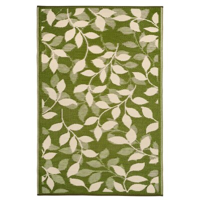 Martina Forest Green/Cream Indoor/Outdoor Area Rug Rug Size: 6 x 9