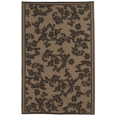 Martina Chocolate Brown/Tan Indoor/Outdoor Area Rug Rug Size: 6 x 9