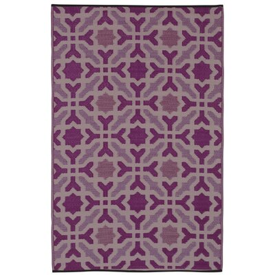 Martina Purple Indoor/Outdoor Area Rug Rug Size: 4' x 6'