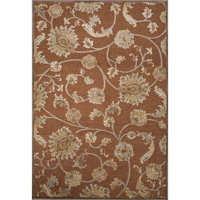 Dolores Rayon Chenille Brown Area Rug Rug Size: 53 x 78