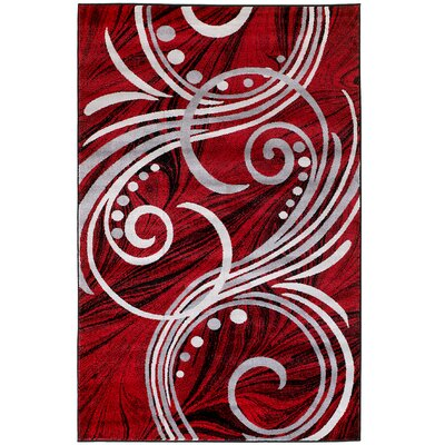 Frieda Red Area Rug Rug Size: 410 x 72