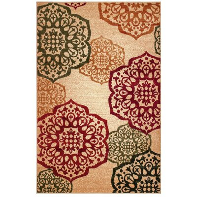 Frieda Red/Green Area Rug Rug Size: 5 x 7