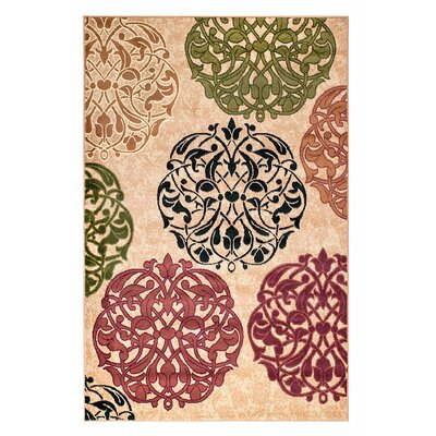 Frieda Beige Area Rug Rug Size: Rectangle 2' x 3'
