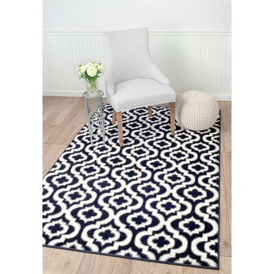 Frieda Navy Area Rug Rug Size: Rectangle 74 x 106