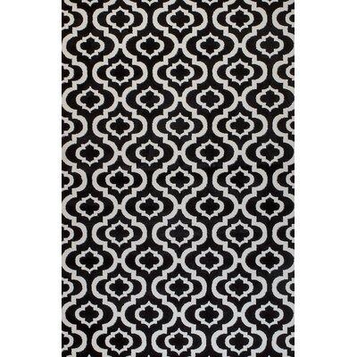 Frieda Black Area Rug Rug Size: 410 x 72