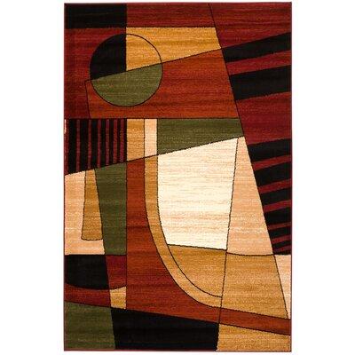 Frieda Burgundy Area Rug Rug Size: 8 x 11