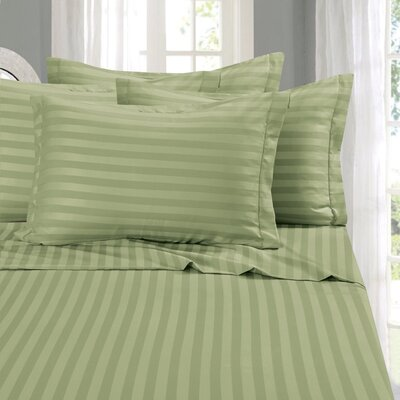 Whitman 1500 Thread Count Sheet Set Color: Green, Size: California King