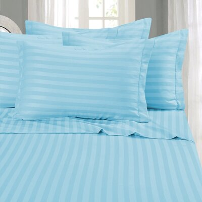 Whitman 1500 Thread Count Sheet Set Color: Aqua, Size: California King