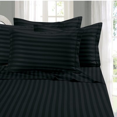 Whitman 1500 Thread Count Sheet Set Color: Black, Size: Full