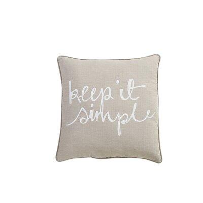 Shonta Keep It Simple Cotton Throw Pillow