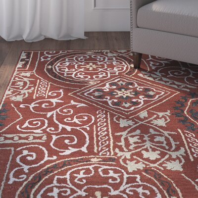 Kendal Red Area Rug Rug Size: Rectangle 8 x 11