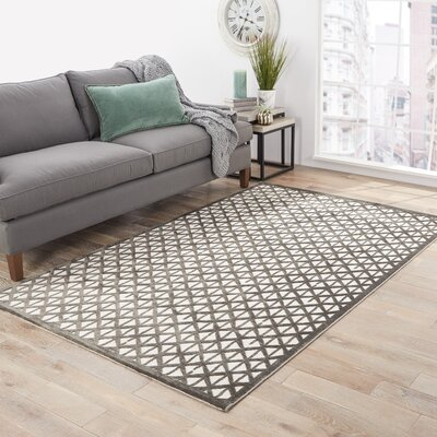 Rossford Ivory/Gray Area Rug Rug Size: 5 x 76