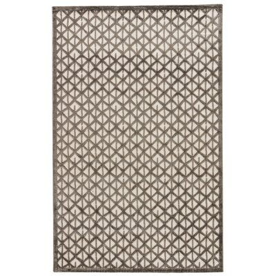 Ascalon Ivory/Gray Area Rug Rug Size: Rectangle 76 x 96