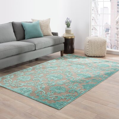 Rossford Brown/Blue Area Rug Rug Size: 5 x 76