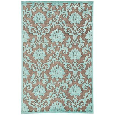Bell Brown/Blue Area Rug Rug Size: 9 x 12