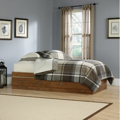 Revere Storage Platform Bed Color: Oiled Oak, Size: Twin