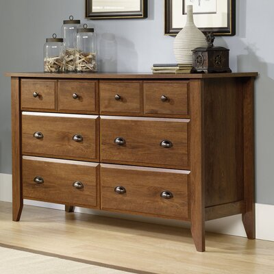 Revere 6 Drawer Dresser Color: Oiled Oak