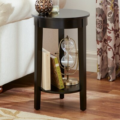 Louis End Table Color: Black