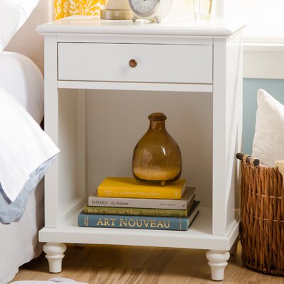 Weaver 1 Drawer Nightstand Color: White