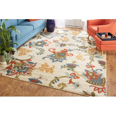 Nexus Salinas Beige/Blue Area Rug Rug Size: Rectangle 76 x 10