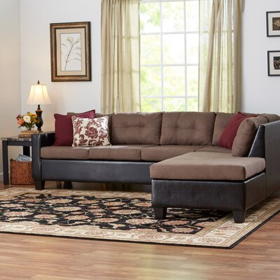 Brewster Sectional Color: Bulldozer Pewter / San Marino Black