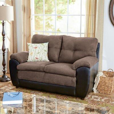 Brewster Loveseat Upholstery: Black/Pewter