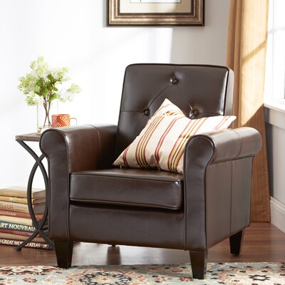 Roger Armchair Upholstery: Chocolate Brown