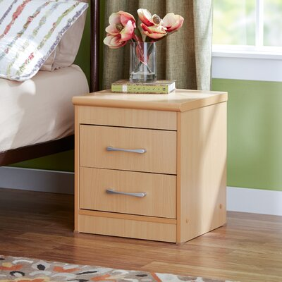 Adams 2 Drawer Nightstand Color: Beech