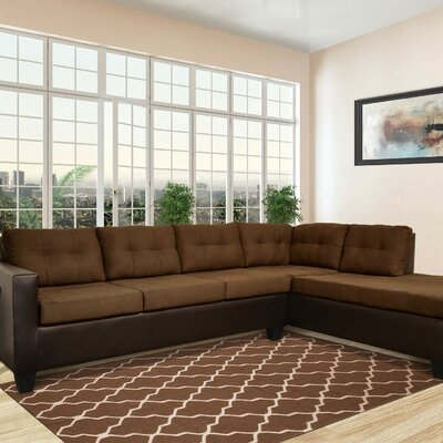 Brewster Sectional Color: Java / Chocolate