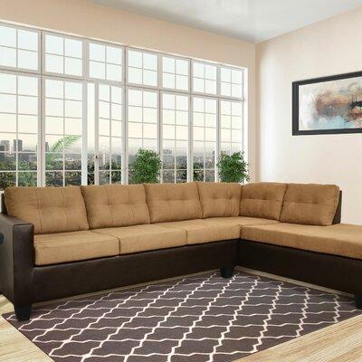 Brewster Sectional Upholstery: Mocha / Chocolate