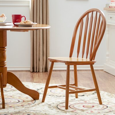 Sheldon Amber Solid Wood Dining Chair (Set of 2) Side Chair Finish: Spice Oak