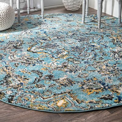 Stoneham Aqua Area Rug Rug Size: Rectangle 4 x 6