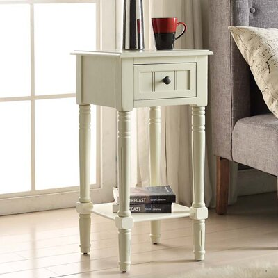 Carleton 1 Drawer End Table Color: Buttermilk