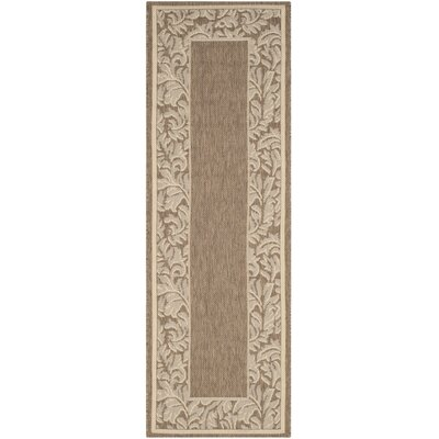 Short Brown / Natural Outdoor Runner Rug Rug Size: Runner 24 x 67