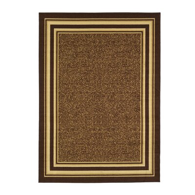 Galesburg Chocolate/Beige Area Rug Rug Size: Rectangle 82 W x 910 L