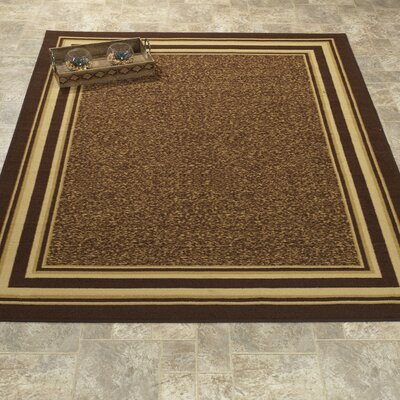 Galesburg Chocolate/Beige Area Rug Rug Size: Rectangle 33 W x 5 L
