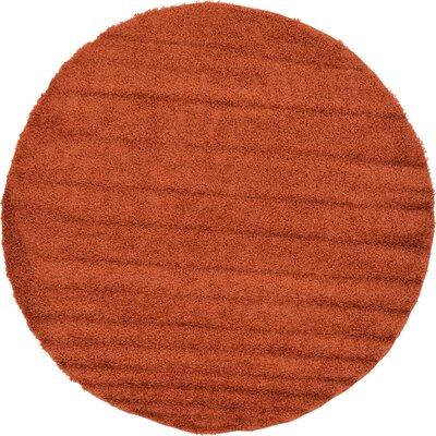 Lilah Basic Terracotta Area Rug Rug Size: Round 82