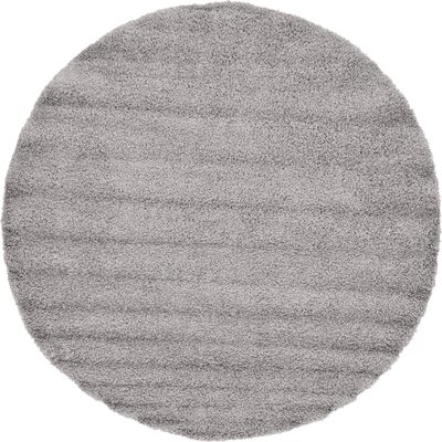 Lilah Gray Area Rug Rug Size: Round 82
