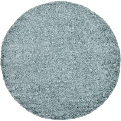 Lilah Light Blue Area Rug Rug Size: Round 82, Color: Blue