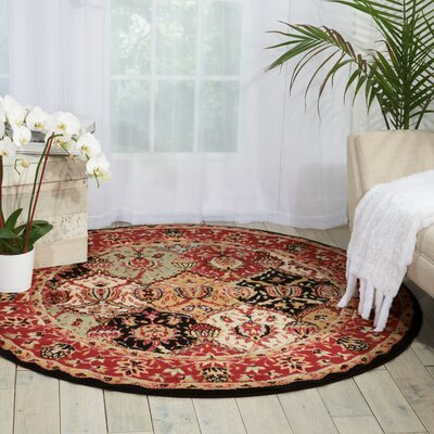 Standish Brown Area Rug Rug Size: Round 710