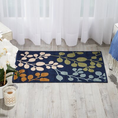 Brockenhurst Navy Indoor/Outdoor Area Rug Rug Size: Rectangle 19 x 29