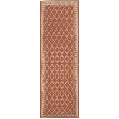 Short Rust / Sand Outdoor Rug Rug Size: Runner 27 x 82